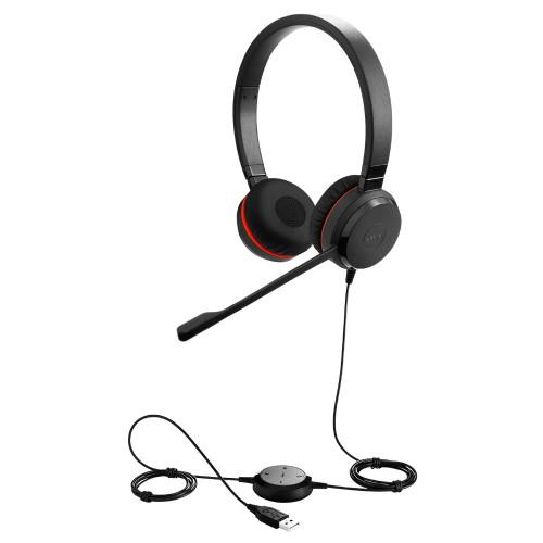 Слушалки с микрофон Jabra Evolve 20 MS Stereo USB-C - Special Edition (кожени наушници)