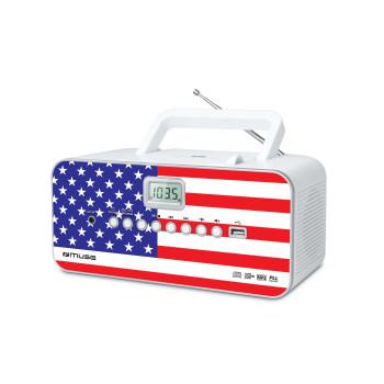 Преносим CD/MP3 Радио плейър Muse M-28 RDW с USB - USA