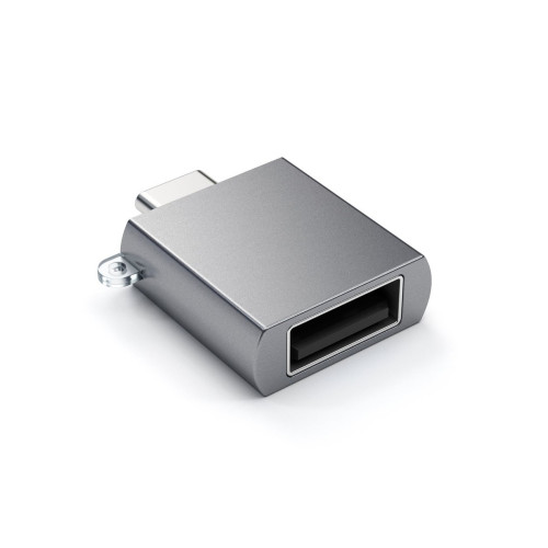 Адаптер Satechi от USB-C Male към USB Female - Тъмносив