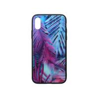 Kалъф Tellur Glass Print за iPhone X/XS - Palm