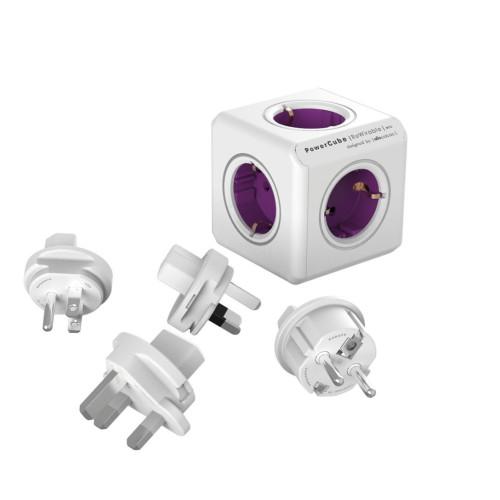 Allocacoc POWERCUBE REWIRABLE 1800 coupler, purple
