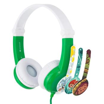 Детски слушалки BuddyPhones CONNECT, green