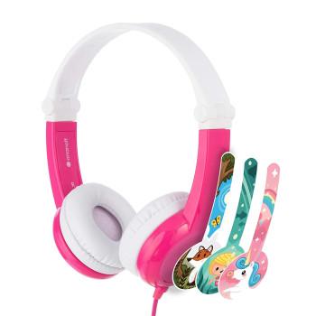 Детски слушалки BuddyPhones CONNECT, pink