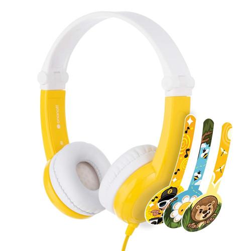 Детски слушалки BuddyPhones CONNECT, yellow