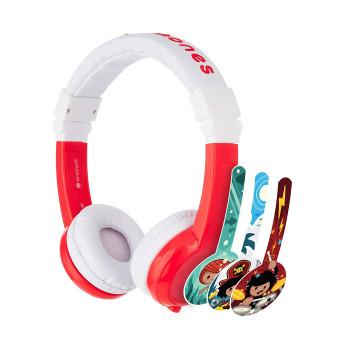 Детски слушалки BuddyPhones EXPLORER, red