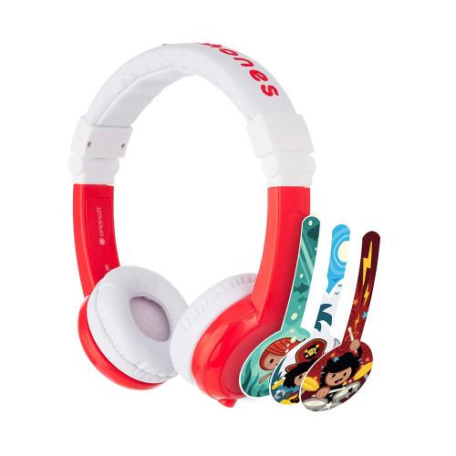 Kids headphones BuddyPhones EXPLORER, red