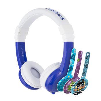Детски слушалки BuddyPhones INFLIGHT, blue