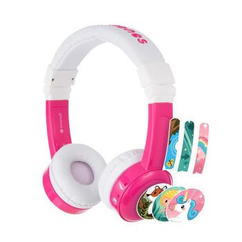 Детски слушалки BuddyPhones INFLIGHT, pink