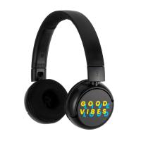 BuddyPhones POP Wireless Black Kids Headset, Black