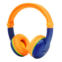 BuddyPhones SCOUT PLAY Wireless Kids Headphones, Blue