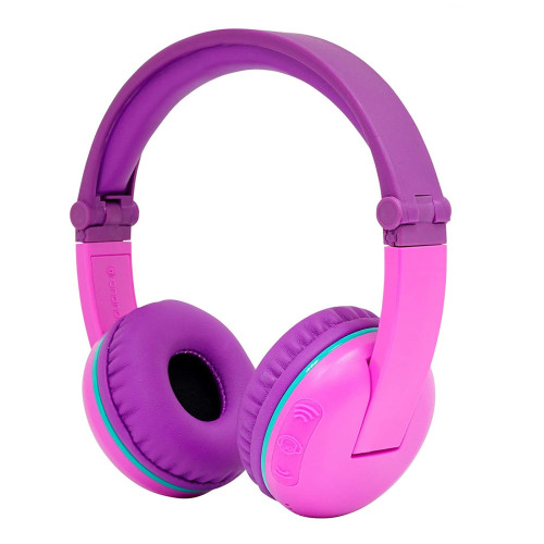 BuddyPhones SCOUT PLAY Wireless Kids Headphones, Lila