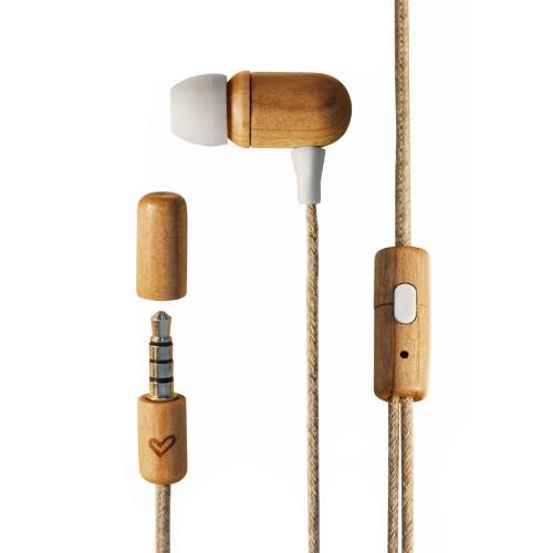 Energy Earphones Eco Cherry Wood wired headphones