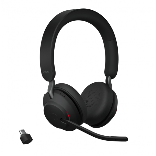 Bluetooth слушалка с микрофон Jabra Evolve2 65 UC Stereo с USB-C - Черни