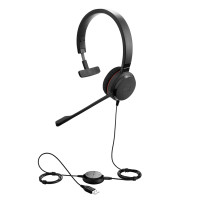 Слушалки с микрофон Jabra Evolve 30 II UC Mono USB и 3,5мм жак