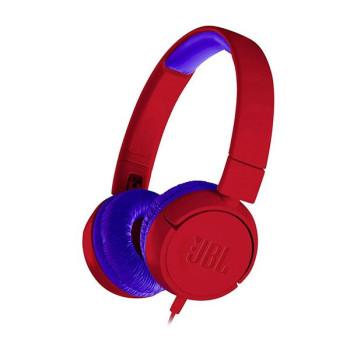 Слушалки за деца JBL JR300, red