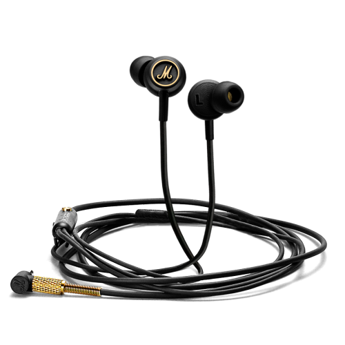 In-ear headphones Marshall MODE EQ Black and Brass