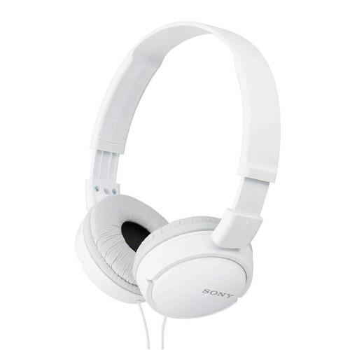 Жични слушалки Sony MDR-ZX110AP, бели