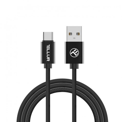 Charging cable Tellur USB Type-C - Braided, 200 cm