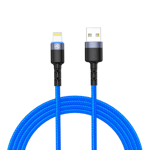 Tellur Lightning cable with LED light, 1.2 m - Blue