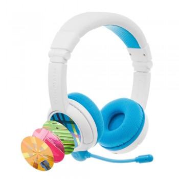 Детски слушалки с микрофон BuddyPhones SCHOOL+ – Bluetooth, сини